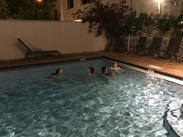 Night swimming is awesome!