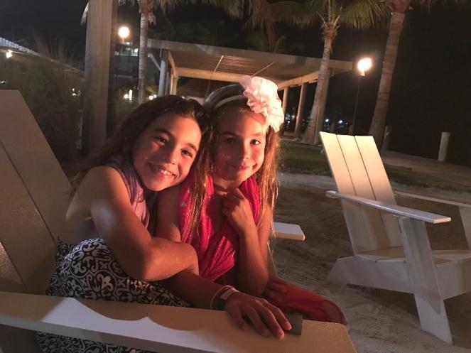 My beautiful girls by the firelight
