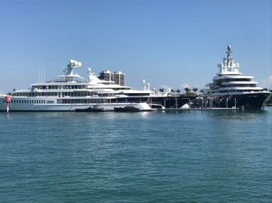 These are private yachts, not cruise ships. CRAZY!