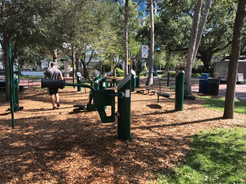 Awesome workout park complete with a stair stepper