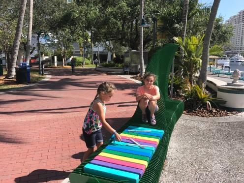 Fun xylophone bench