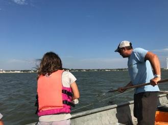 Catching crab!